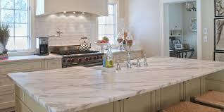 white marble kitchen worktops