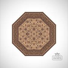 octagonal victorian rug style ro1516 in 3 diffe colourways