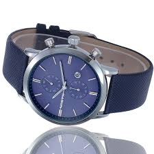 military waterproof leather blue mens watch lazada image