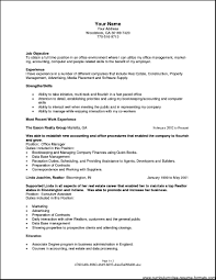 resume objectives for office manager free samples examples format r