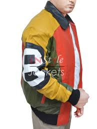michael hoban 8 ball multi color leather jacket
