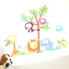 wall  on jungle wall art for baby room with wall decals baby nursery wall ideas wall art decor cute design
