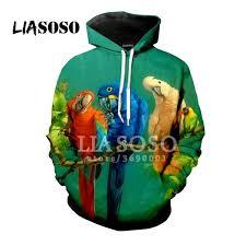 LIO Funny <b>Colorful</b> Parrot Cool Birds <b>3D Print</b> T Shirt/Hoodie ...