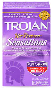 Condoms with Spermicidal Lubricant   TROJAN™ Her Pleasure ...