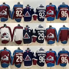 Nathan Size Chart 96 Mikko Rantanen Colorado Avalanche 92 Gabriel Landeskog 29 Nathan Mackinnon Hockey Jerseys Men Free Shipping