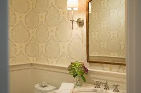galbraith and paul lighting. Powder Room With Wallpaper And Wainscoting Galbraith Paul Lighting