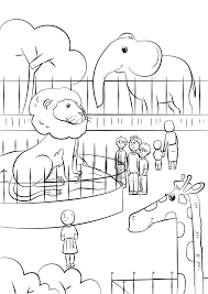 In other words we have here zoo coloring pages. Zoo Animals Coloring Page Free Printable Coloring Pages For Kids