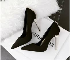 Sexy 10.5cm Heels Women <b>Flock Pointed Toe High</b> Heels ,Desiger ...