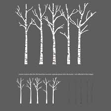 birch trees silhouettes forrest wall decal