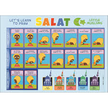 Lets Learn Salat Surahs Laminated Two Sided Poster For