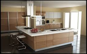 simple and minimalist wooden scavolini kitchen with white kitchen countertop