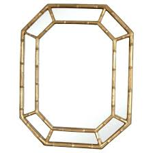 gold bamboo mirror. Gold Bamboo Mirror Photo Faux