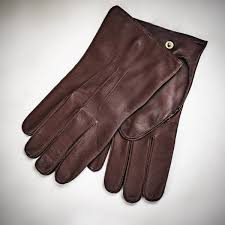 dents plain nappa dome unlined leather gloves brown