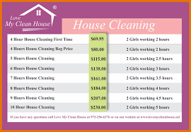 Domestic Cleaning Price List House Cleaning Price Magdalene Project Org