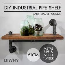 industrial wall shelves rustic pipe storage shelving vintage bookshelf decor 24