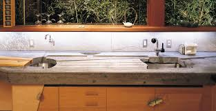 concrete countertop with integral cutting board and drainboard by fu tung cheng concrete exchange