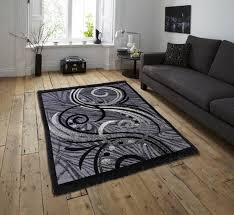 carpet floor. Zesture Black, Grey Chenille Carpet Floor