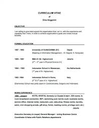 Resume Job Objective Writing Objective For Resume 100 How To Write Objectives A General On 96