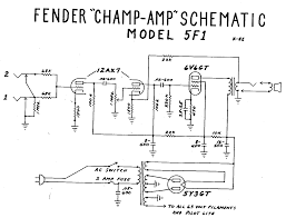 fender champ tube amp schematic model 5f1 guitar fender champ tube amp schematic model 5f1