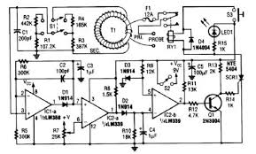 index basic circuit circuit diagram com basically this circuit is an adjustable electronic circuit breaker containing a toroidal transformer lhat senses 60 hz load current