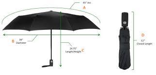 umbrella size measurement how to
