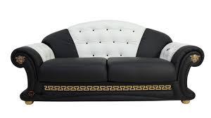 Versace 3 Seater Sofa Settee Genuine Italian Black White Leather Offer