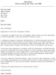 Equalities Officer Cover Letter Example Icover Org Uk