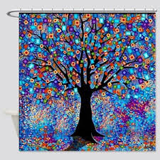 colorful shower curtains. Interesting Curtains Colorful Tree Of Life Art Print Shower Curtain With Curtains N