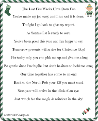 elf on the shelf introduction letter from santa 5 printable goodbye