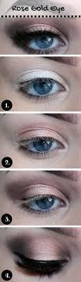 wedding makeup for blue eyes rose gold makeup look step by step makeup tutorials