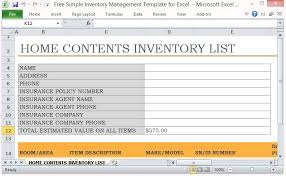 inventory control spreadsheet template free simple inventory management template for excel