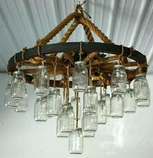 wagon wheel chandelier with mason jars country wagon wheel chandelier how to make wagon wheel chandelier