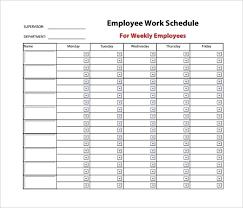 Work Schedule Calendar Template 9 Weekly Work Schedule Templates Doc Free Premium Templates