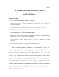 Mack robinson college of business. Pdf The Role Of Government In Risk Management And Insurance