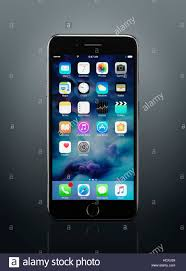 Apple Iphone 7 Plus Black With Desktop Icons On Its Display