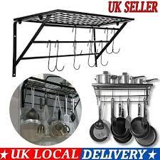 kitchen hanging pot pan rack wall mount