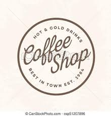 coffee shop logos.  Shop Coffee Shop Logo With Sign Hot And Cold Drinks Isolated On Background For  Cafe Shop Vector Design Elements Logos Identity Labels Badges Other  On Shop Logos