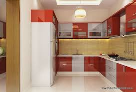 best modular kitchen designs in india design ideas for modular kitchen with red and wooden cabinets