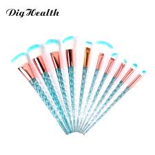 Dighealth <b>10pcs</b> Unicorn <b>Spiral</b> Brushes Set Pink Blue Facial ...