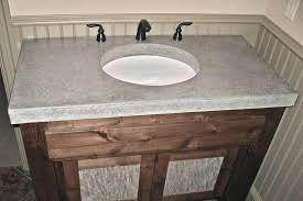 concrete bathroom vanities sinks countertops