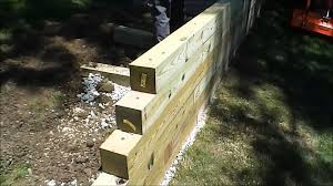 Small Picture HOW TO Build a Timber Wall YouTube