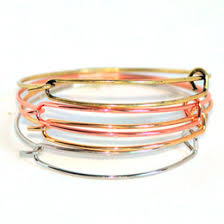 fashion diy jewelry women expandable wire bangle bracelets for beading or charm bracelets making supplies in bulk whole