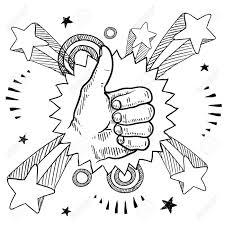 ポップ爆発の背景イラストで 1960 年代や 1970 年代スタイルに登録して親指の落書きスタイル スケッチ