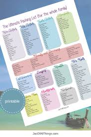 Vacation Checklist Vacation Packing List The Ultimate Packing Checklist Free