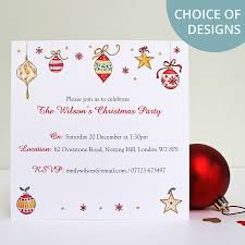 Christmas Inviations Personalised Christmas Invitations