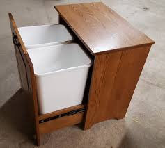 Kitchen Cabinet Garbage Can Tips Customize Your Kitchen Cabinet With Tilt Out Trash Bin