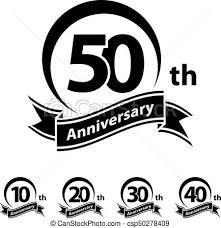 Anniversary Ribbon Anniversary Ribbon Number 10 20 30 40 50 Illustration For The Web