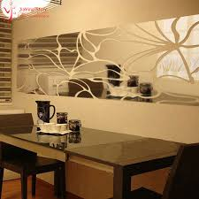 Small Picture 3D Mirror Wall Art Sticker Decal Modern Design Home Decoration