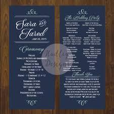Wedding Program Designs Hadley Designs Programs