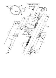 1979 yamaha yz125 yz125f front fork yz125f parts best oem front ya4401 58 m147170sch218212